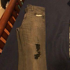 Hollister black skinny jeans